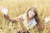 Senior woman outdoors — Stock Photo