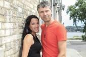 Urban modern young couple — Stock Photo
