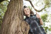 Portrait Of Young Smiling Teen Boy — Stock Photo