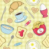 Seamless vector breakfast pattern — Stock Vector