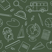 Seamless school vector pattern — Stock Vector