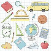 Vector school icons set — Vetorial Stock