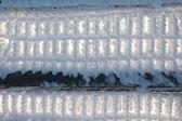 Frozen fence — Stock Photo