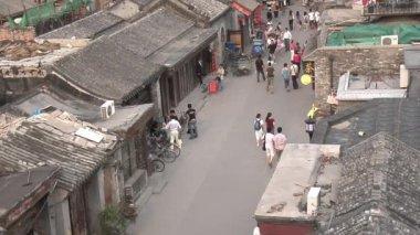 Beijing Neighborhood From a High Angle — Vídeo de Stock