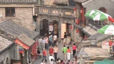 Beijing Neighborhood From a High Angle — Stock Video
