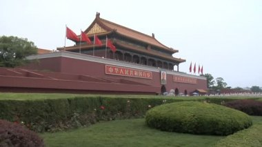 Tiananmen Square Entrance to Forbidden City — Stock Video