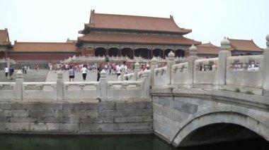 Forbidden City Grounds in Beijing, China — Stock Video