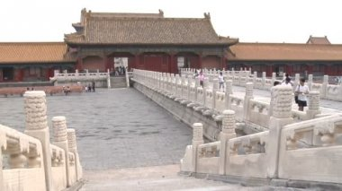 Forbidden City Grounds in Beijing, China — Stock Video