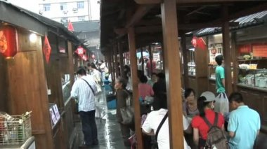 Restaurant Row in China — Vídeo de Stock