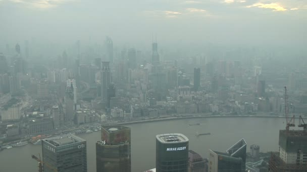 ShanghaiSkylineDuring The Day — Vídeo de stock