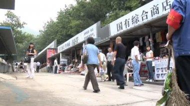 ShoppingArea NearGreatWall of China — Stock Video