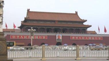 Tiananmen Square in Beijing China — Stock Video