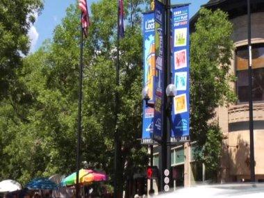Boulder Colorado Pearl Street Mall — Stock Video