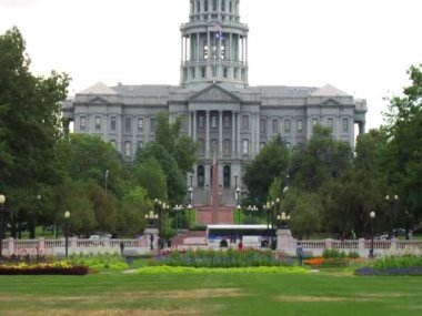 Colorado State Capitol Building Exterior in Denver — Stock Video