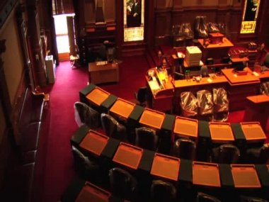 Colorado State Capitol Chambers — Stock Video