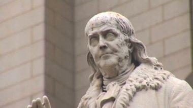 Benjamin Franklin Statue in Washginton DC — Stock Video