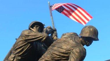 US Marine Corps War Memorial — Stock Video