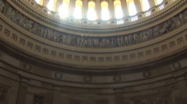 United States Capitol Building Dome Interior in Washington DC — Stock Video