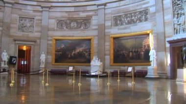 United States Capitol Building Dome Interior in Washington DC — Stock Video