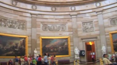 United States Capitol Building Dome Interior in Washington DC — Wideo stockowe