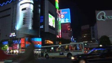 Tokyo City Life at Night — Vídeo de Stock