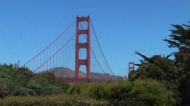 Golden gate brücke in san francisco — Stockvideo
