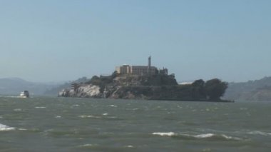San francisco bay alcatraz adası — Stok video