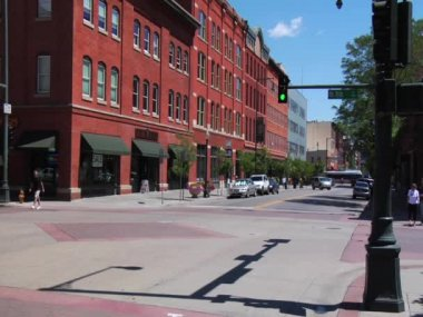Street in Downtown Denver Colorado — Stock Video