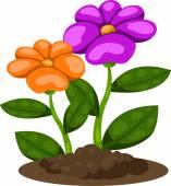 Illustrator of flower in the garden — Stock Vector