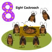 Illustrator of number eight cockroach — Wektor stockowy