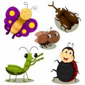 Illustrator of bug cartoon cute — Stock Vector