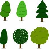 Träd insamling — Stockvektor