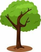 插画家的树 — 图库矢量图片