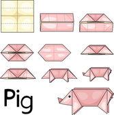 Illustrator of pig origami — Vettoriale Stock
