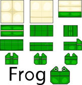 Illustrator of origami frog face — Cтоковый вектор