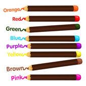 Иллюстратор карандаш и цвет — Cтоковый вектор
