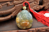 Jade pendant with Chinese characteristics — Stock Photo