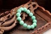 Chinese jade bracelet features — 图库照片