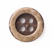 白い背景上に分離されて木製ボタン — ストック写真