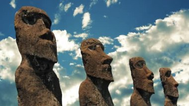 Easter Island Statues — Stock Video