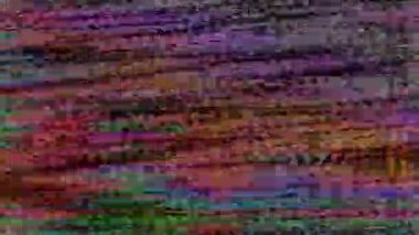 TV Signal Extremely Screwed Up — Stock Video