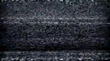 TV Static Tuning Loop — Stock Video