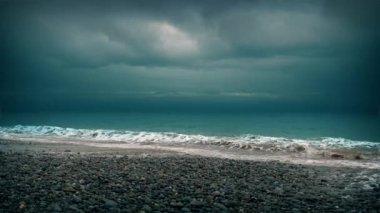 Dramatic Beach Shore — Stock Video