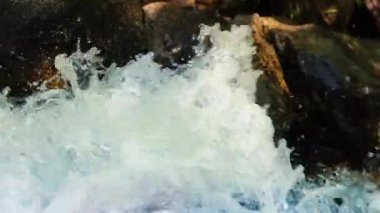 Frothing River Water Closeup — Vídeo stock