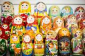 Matryoshkas in Moscow shop — ストック写真