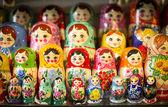 Matryoshkas in Moscow shop — Stock Photo