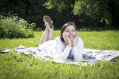 Relax with a book — Stock Photo