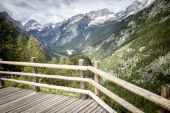 Vewpoint near Vrsic pass in Julian Alps in Slovenia — Stock Photo