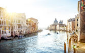 View from Accademia Bridge on Grand Canal in Venice — Stock Photo