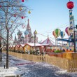 Christmas village fair on Red Square in Moscow — Stock Photo #64909007